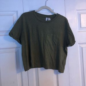 H&M Army Green Basic Tee